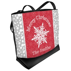 Snowflakes Beach Tote Bag (Personalized)
