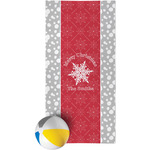 Snowflakes Beach Towel (Personalized)