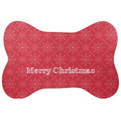 Snowflakes Bone Shaped Dog Food Mat (Personalized)