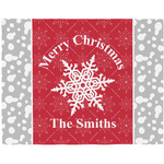 Snowflakes Woven Fabric Placemat - Twill w/ Name or Text