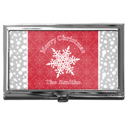 Snowflakes Business Card Case