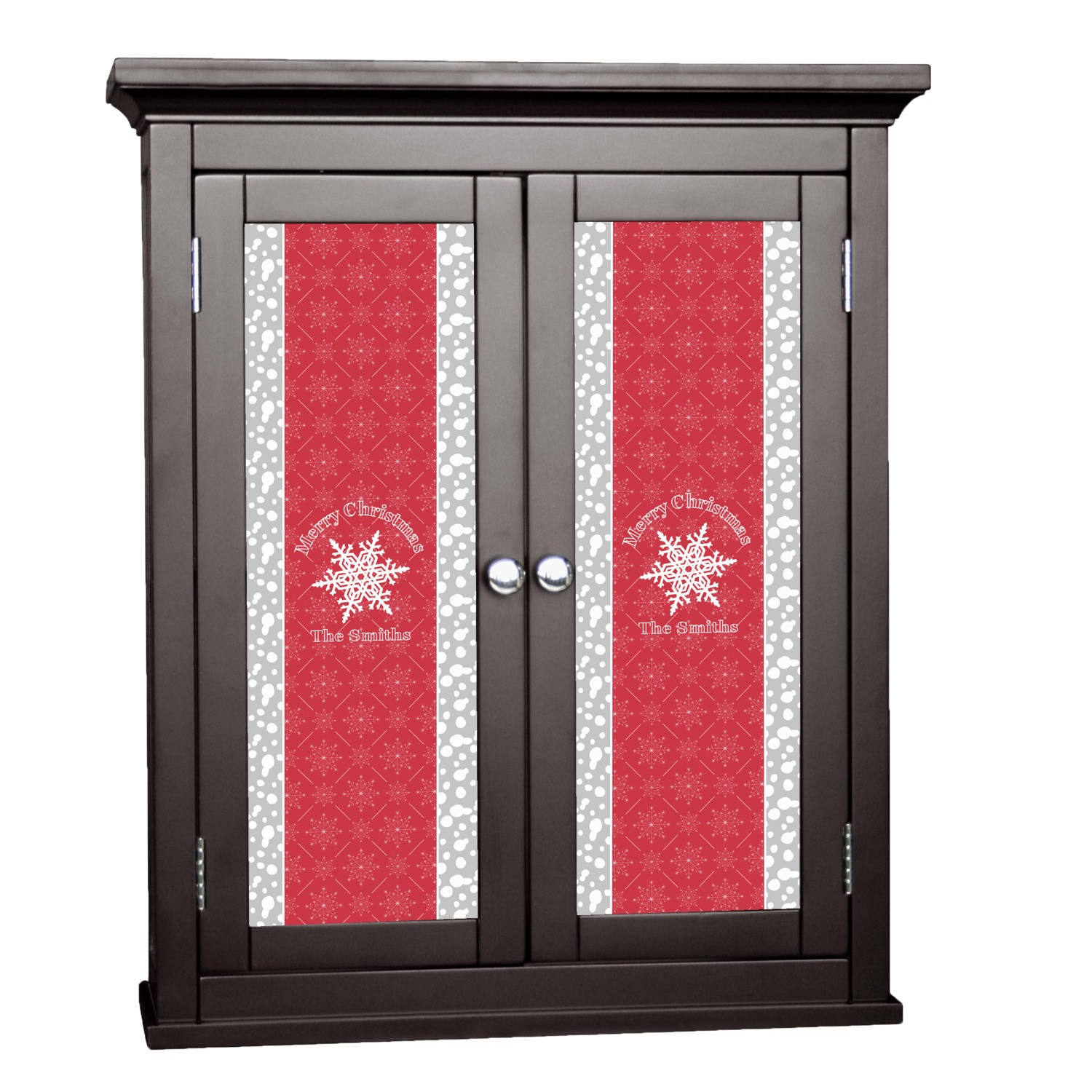 Snowflakes Cabinet Decal - Custom Size (Personalized)