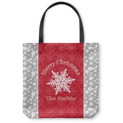 Snowflakes Canvas Tote Bag (Personalized)