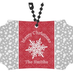 Snowflakes Rear View Mirror Ornament (Personalized)