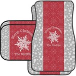 Snowflakes Car Floor Mats (Personalized)