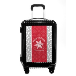 Snowflakes Carry On Hard Shell Suitcase (Personalized)