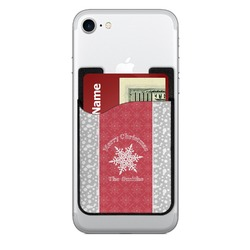 Snowflakes 2-in-1 Cell Phone Credit Card Holder & Screen Cleaner (Personalized)