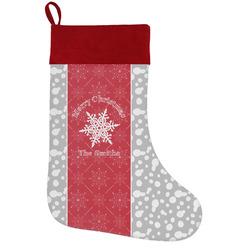 Snowflakes Holiday Stocking w/ Name or Text