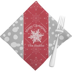 Snowflakes Cloth Napkins (Set of 4) (Personalized)