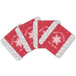 Snowflakes Cork Coaster - Set of 4 w/ Name or Text