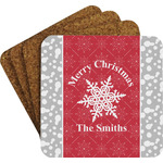 Snowflakes Coaster Set w/ Stand (Personalized)