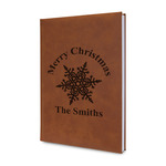 Snowflakes Leatherette Journal (Personalized)