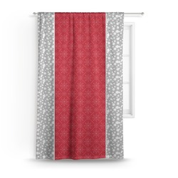 "Snowflakes Curtain - 50""x84"" Panel (Personalized)"