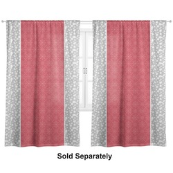 """Snowflakes Curtains - 40""""x54"""" Panels - Lined (2 Panels Per Set) (Personalized)"""
