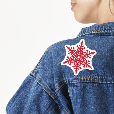 Snowflakes Large Custom Shape Patch (Personalized)