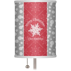 "Snowflakes 7"" Drum Lamp Shade (Personalized)"