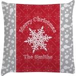Snowflakes Decorative Pillow Case (Personalized)
