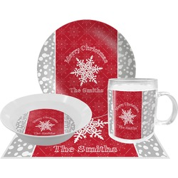 Snowflakes Dinner Set - 4 Pc (Personalized)