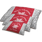 Snowflakes Dog Bed w/ Name or Text
