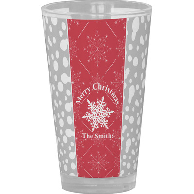 Snowflakes Drinking / Pint Glass (Personalized)