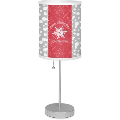 """Snowflakes 7"""" Drum Lamp with Shade (Personalized)"""