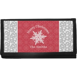 Snowflakes Canvas Checkbook Cover (Personalized)