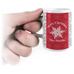 Snowflakes Espresso Mug - 3 oz (Personalized)