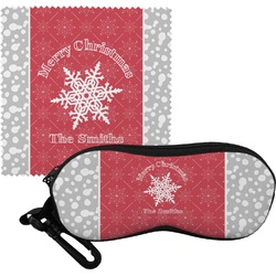 Snowflakes Eyeglass Case & Cloth (Personalized)