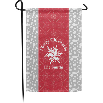 Snowflakes Garden Flag - Single or Double Sided (Personalized)