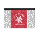 Snowflakes Genuine Leather ID & Card Wallet - Slim Style (Personalized)