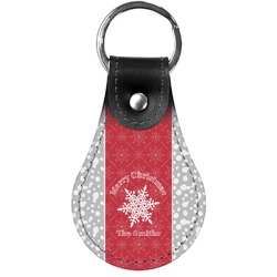 Snowflakes Genuine Leather  Keychains (Personalized)