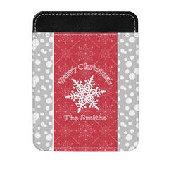Snowflakes Genuine Leather Money Clip (Personalized)