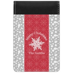 Snowflakes Genuine Leather Small Memo Pad (Personalized)