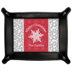 Snowflakes Genuine Leather Valet Tray (Personalized)