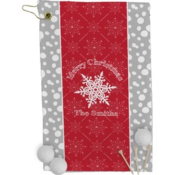 Snowflakes Golf Towel - Full Print (Personalized)