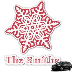 Snowflakes Graphic Car Decal (Personalized)