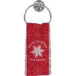 Snowflakes Hand Towel - Full Print (Personalized)