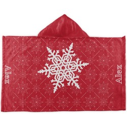 Snowflakes Kids Hooded Towel (Personalized)