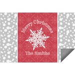 Snowflakes Indoor / Outdoor Rug (Personalized)