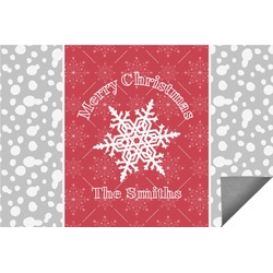 Snowflakes Indoor / Outdoor Rug - 6'x9' (Personalized)