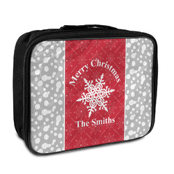 Snowflakes Insulated Lunch Bag (Personalized)