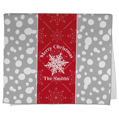 Snowflakes Kitchen Towel - Full Print (Personalized)
