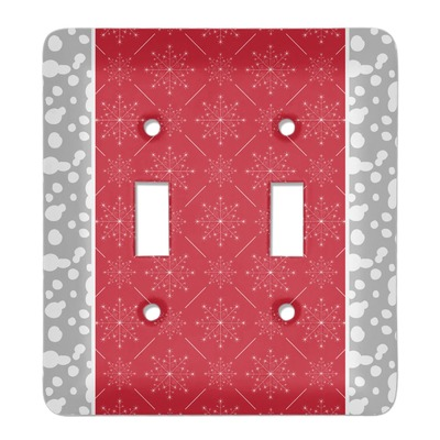 Snowflakes Light Switch Cover (2 Toggle Plate) (Personalized)