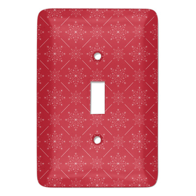 Snowflakes Light Switch Cover (Single Toggle) (Personalized)