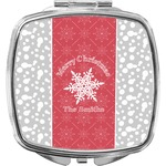 Snowflakes Compact Makeup Mirror (Personalized)
