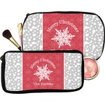 Snowflakes Makeup / Cosmetic Bag (Personalized)