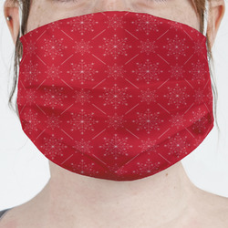 Snowflakes Face Mask Cover (Personalized)