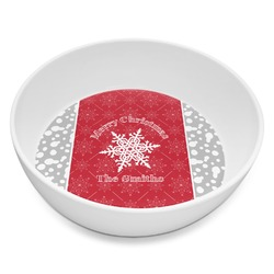 Snowflakes Melamine Bowl - 8 oz (Personalized)