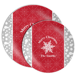 Snowflakes Melamine Plate (Personalized)