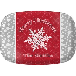 Snowflakes Melamine Platter (Personalized)